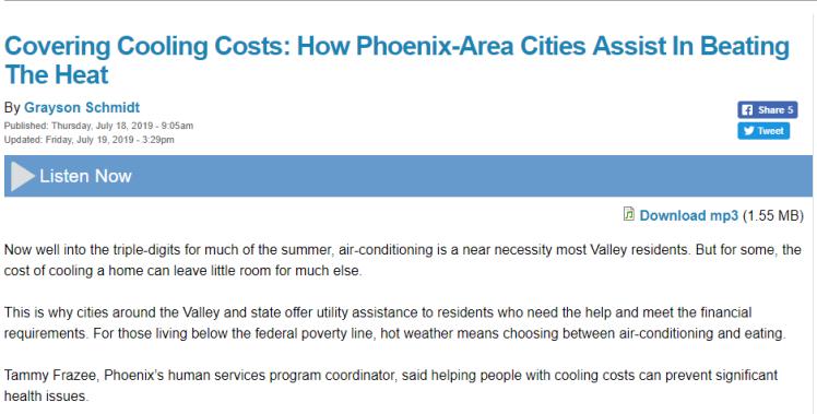 colling costs screenshot